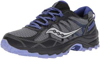 Saucony Women's Excursion TR11 GTX Running Shoes, Grey/Black/Purple