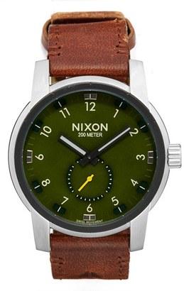 Men's Nixon 'The Patriot' Leather Strap Watch, 45Mm $300 thestylecure.com