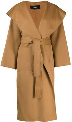 Arma belted wool wrap coat