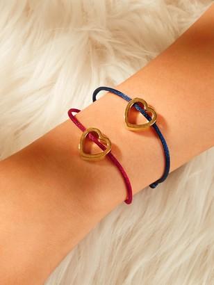 Shein Heart Shaped Bracelet 2pcs