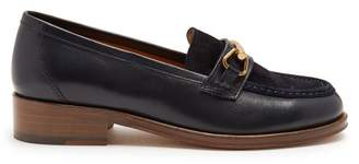 A.P.C. Diana suede and leather moccasins