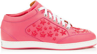 Jimmy Choo MIAMI Flamingo leather Sneakers with Enamel Stars