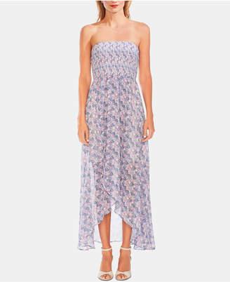 de9019d1dcf5c Vince Camuto Strapless Smocked Bodice Maxi Dress
