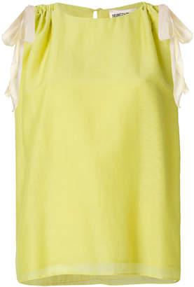 Semi-Couture Semicouture shoulder tie blouse