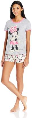 Disney Women's Minnie 2-Piece Pajama Short Set