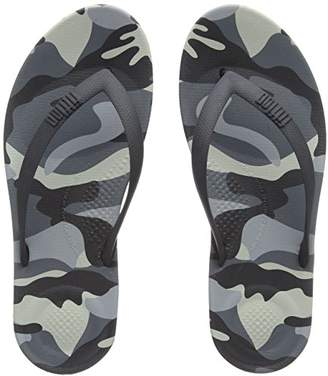 FitFlop Men's IQUSHION CAMO Open Toe Sandals, (Black Mix 231), 44 EU