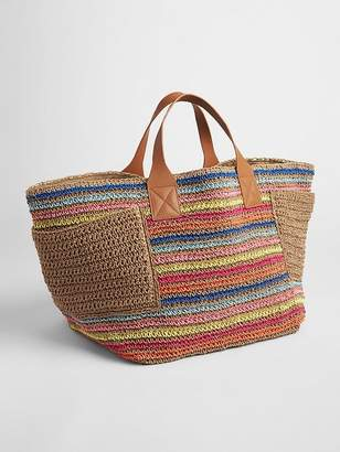 Gap Stripe Straw Tote