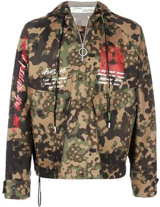 Off-White camouflage print pullover jacket