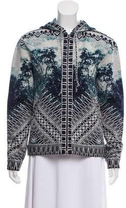 Herve Leger Hooded Knit Jacket