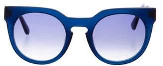 Derek Lam Gradient Round Sunglasses Blue Gradient Round Sunglasses