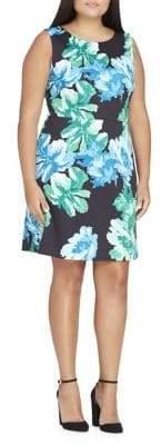 Tahari Arthur S. Levine Plus Floral Sleeveless Sheath Dress