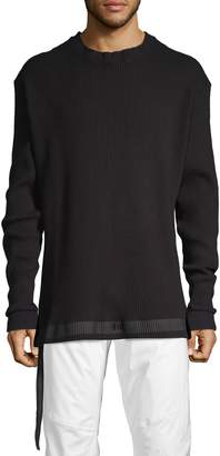 Unravel Project Rib-Knit Stretch Cotton Sweater