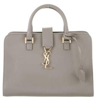 Saint Laurent Monogram Downtown Cabas Bag Grey Monogram Downtown Cabas Bag