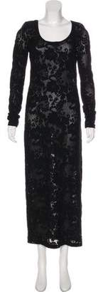 Dolce & Gabbana Lace Long Sleeve Maxi Dress