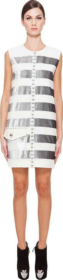 Marc Jacobs Lamé Panel Tweed Dress