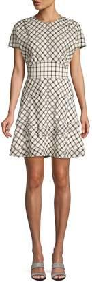 Derek Lam 10 Crosby Tiered Plaid Dress