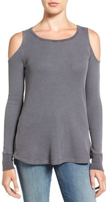 Women's Splendid Cold Shoulder Thermal Top $98 thestylecure.com