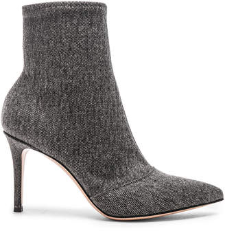 Gianvito Rossi Denim Stretch Ankle Booties