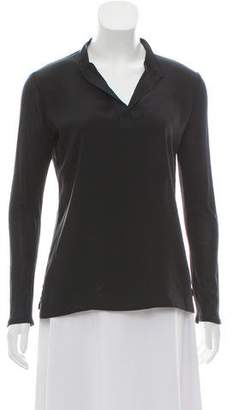 The Row V-Neck Long Sleeve Top