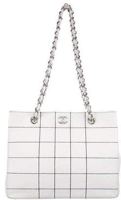 Chanel Lambskin Square Quilted Tote