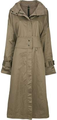 Taylor zipped trench coat