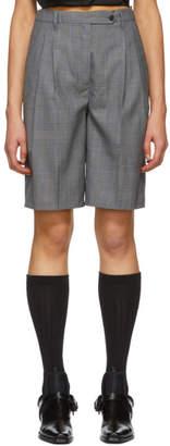 Prada Grey Wool Tailored Shorts