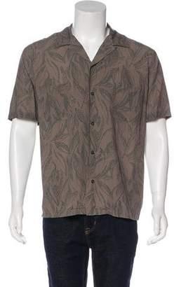 Vince Woven Button-Up Shirt