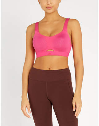 bbe010489c05e adidas Cut-out stretch-jersey sports bra