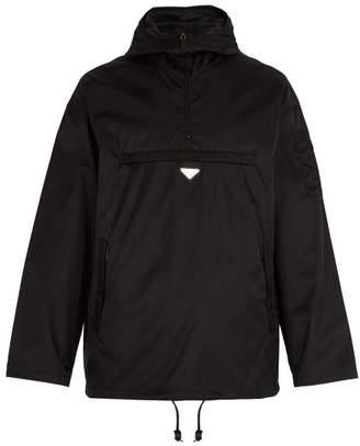 Prada Lightweight Pullover Nylon Jacket - Mens - Black