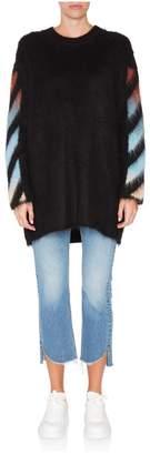 Off-White Off White Multicolor Diagonal Intarsia Mohair Sweater