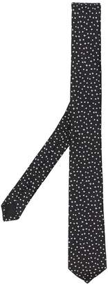 Saint Laurent star jacquard tie
