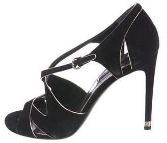 Louis Vuitton Suede Cutout Sandals