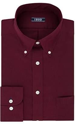 Izod Men's Regular Fit Stretch Solid Buttondown Collar Dress Shirt