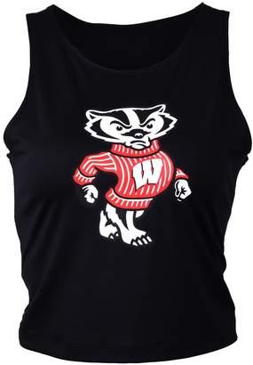 NCAA Zoozatz Women's Wisconsin Badgers First Down Crop Top