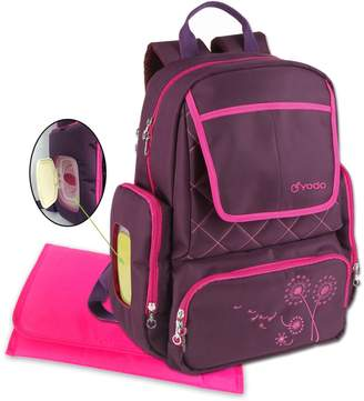 Diaper Bag Backpack by Yodo - 13 Secure Pockets - Smart Organizer System, Easy Pack - Easy Clean - BONUS: XL Changing Pad, Wipe Dispenser Case