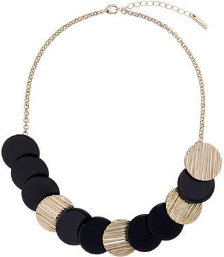 Karen Millen Textured Disc Necklace