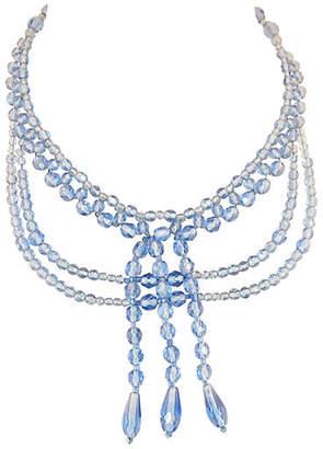 One Kings Lane Vintage Edwardian Blue Crystal Draping Necklace - Neil Zevnik