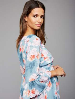 A Pea in the Pod Floral Waist Sash Maternity Blouse