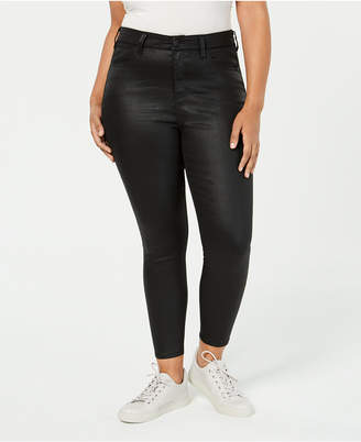 Celebrity Pink Trendy Plus Size Coated Skinny Jeans