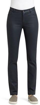 Women's Lafayette 148 New York Waxed Denim Slim Leg Jeans $248 thestylecure.com