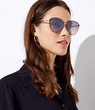 LOFT Round Cateye Sunglasses