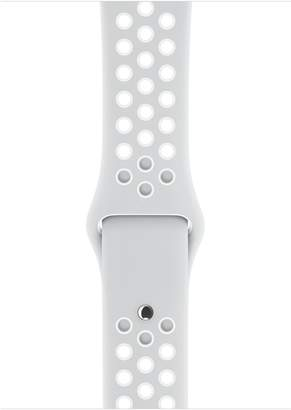 Apple 42mm Pure Platinum/White Nike Sport Band – S/M & M/L