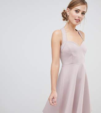Asos DESIGN halter neck skater mini dress with sweetheart neck