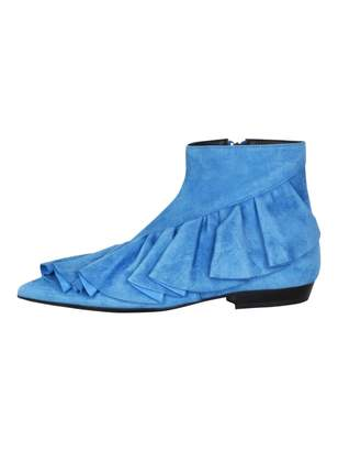J.W.Anderson Blue Suede Ankle boots