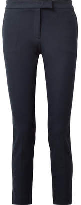 Joseph Finley Cropped Stretch-gabardine Tapered Pants - Navy