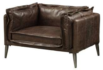 Acme Porchester Chair in Distressed Chocolate Top Grain Leather