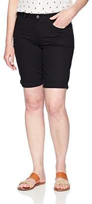 """Lee Indigo Women's Rolled Cuff Midrise Denim Bermuda Short with 10"""" Inseam"""