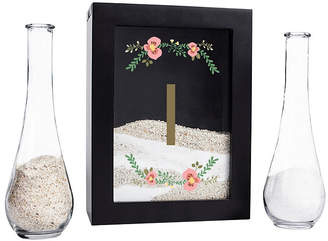 Cathy's Concepts Personalized Floral Unity Sand Ceremony Shadow Box, Black