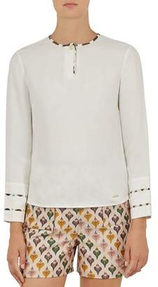 Ted Baker Colour by Numbers Ieshai Trim-Detail Top