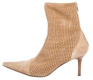 Casadei Suede Pointed-Toe Ankle Boots